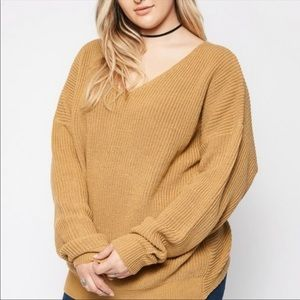 Hayden LA Oversized Twist Knot Back Sweater